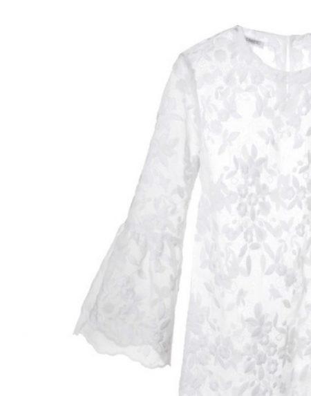 Τούλινη μπλούζα με απλικέ κέντημα NaraCamicie T6385-FO8225
