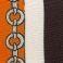 F01 Μαύρο-πορτοκαλί -εκρου