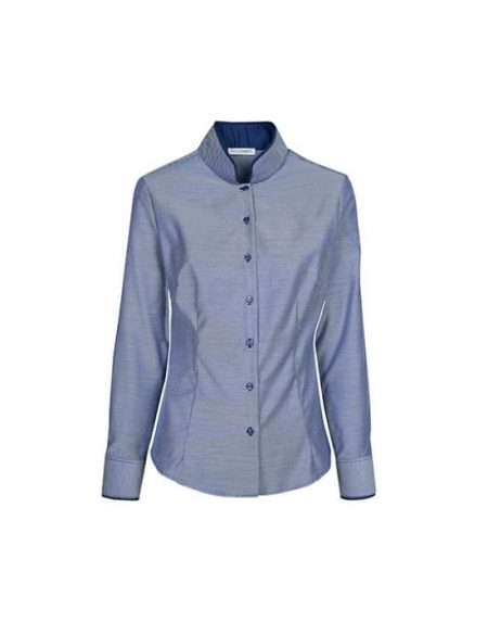 Mandarin collar γυναικείο πουκάμισο Nara Camicie T3891-FO9138