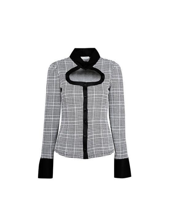 Prince de galles ελαστικό πουκάμισο Nara Camicie T7009-FO9167