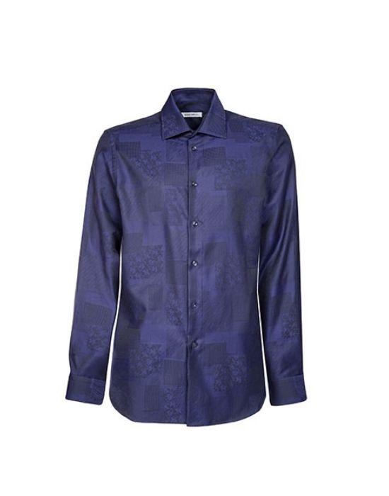 Cotton devore ανδρικό πουκάμισο Nara Camicie  I2135-LA0225