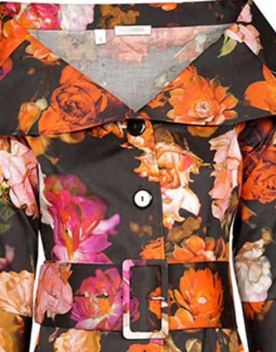 naracFloral print πουκάμισο Nara Camicie T7040-FO9212amicie-floral-print-poukamiso-detail-T7040-FO9212