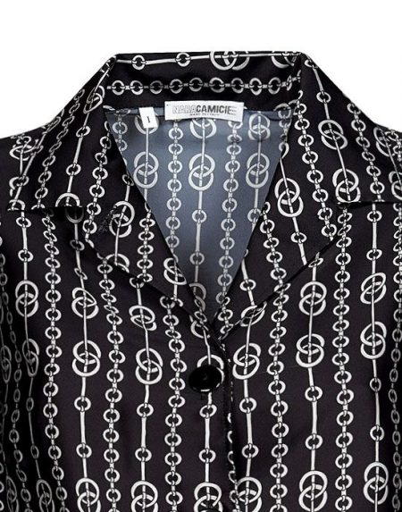 Foulard paneled γυναικείο πουκάμισο Nara Camicie T6992-FO9137