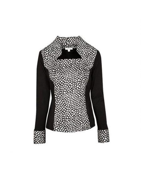 Jersey μπλούζα με polka dot acetate Nara Camicie T7025-FO9209