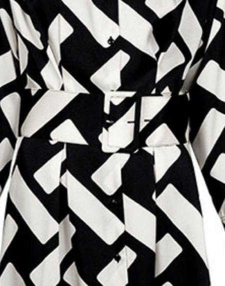 Longline shirt με ζώνη Nara Camicie T6987-FO9159