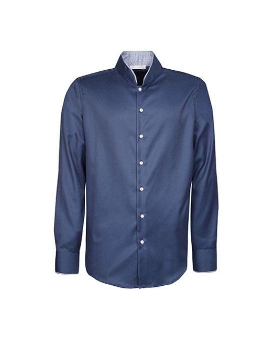Mandarin collar ανδρικό πουκάμισο Nara Camicie T3891-HO3066
