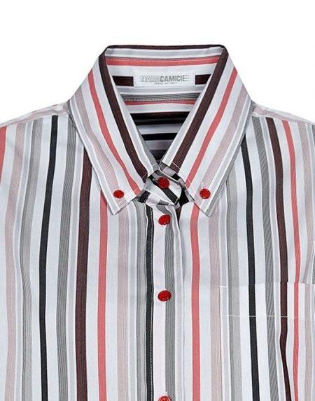 Multicolor ριγέ πουκάμισο Nara Camicie T7020-FO9140