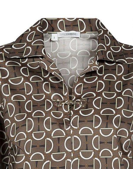 Patterned γυναικείο polo Nara Camicie T7000-FO9161