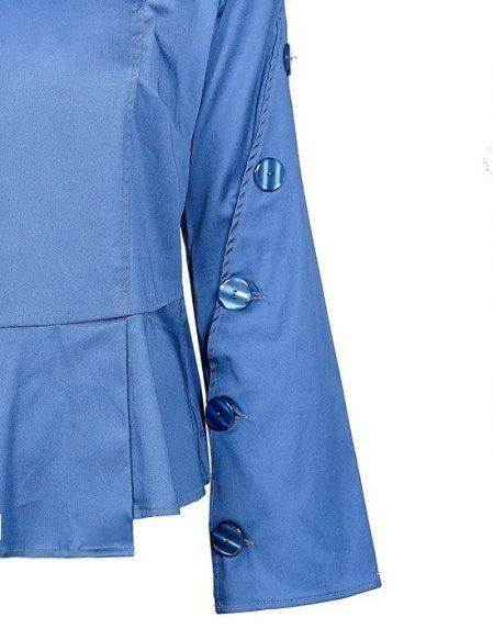 Trumpet sleeve μπλούζα Nara Camicie T3449-FO9144