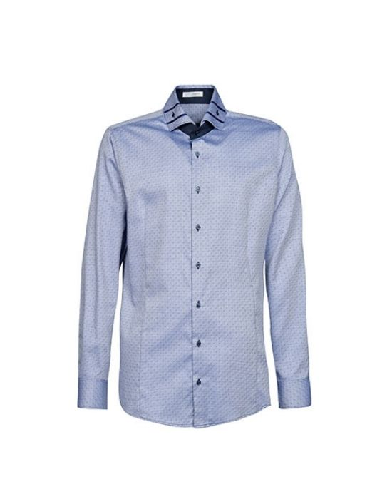 Twill cotton ανδρικό πουκάμισο Nara Camicie T6990-HO3065