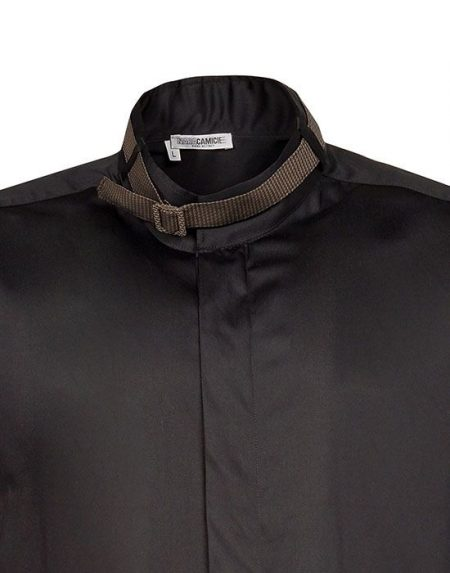 Band collar ανδρικό πουκάμισο Nara Camicie T3449-HO3097