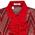 Jersey πουκάμισο με frills Nara Camicie T7015-FO9166