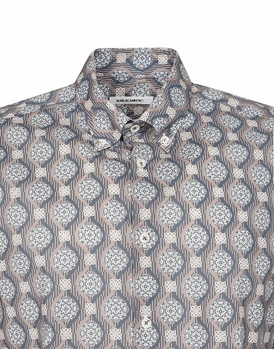Pattern print ανδρικό πουκάμισο Nara Camicie I2114-LA0220