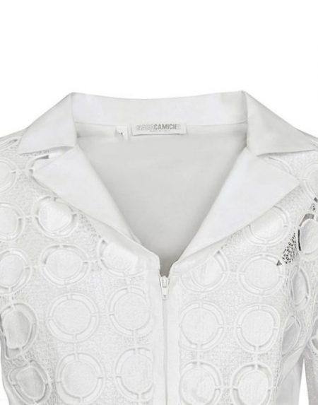 Δαντελένιο πουκάμισο Nara Camicie T7011-FO9180