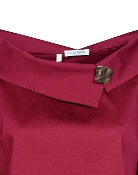 Portrait collar βαμβακερή μπλούζα Nara Camicie T3449-FO9191